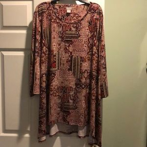 Gorgeous,  Chicos, size  4(18), High-low, top!